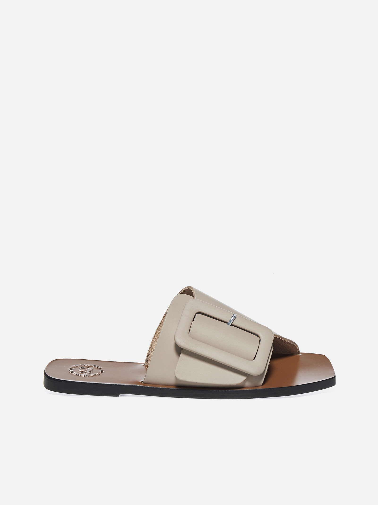 Atp Atelier CECI LEATHER FLAT SANDALS