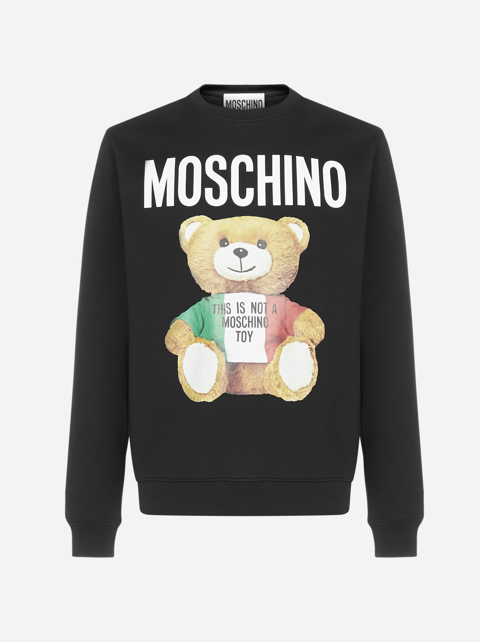 Moschino LOGO TEDDY COTTON SWEATSHIRT