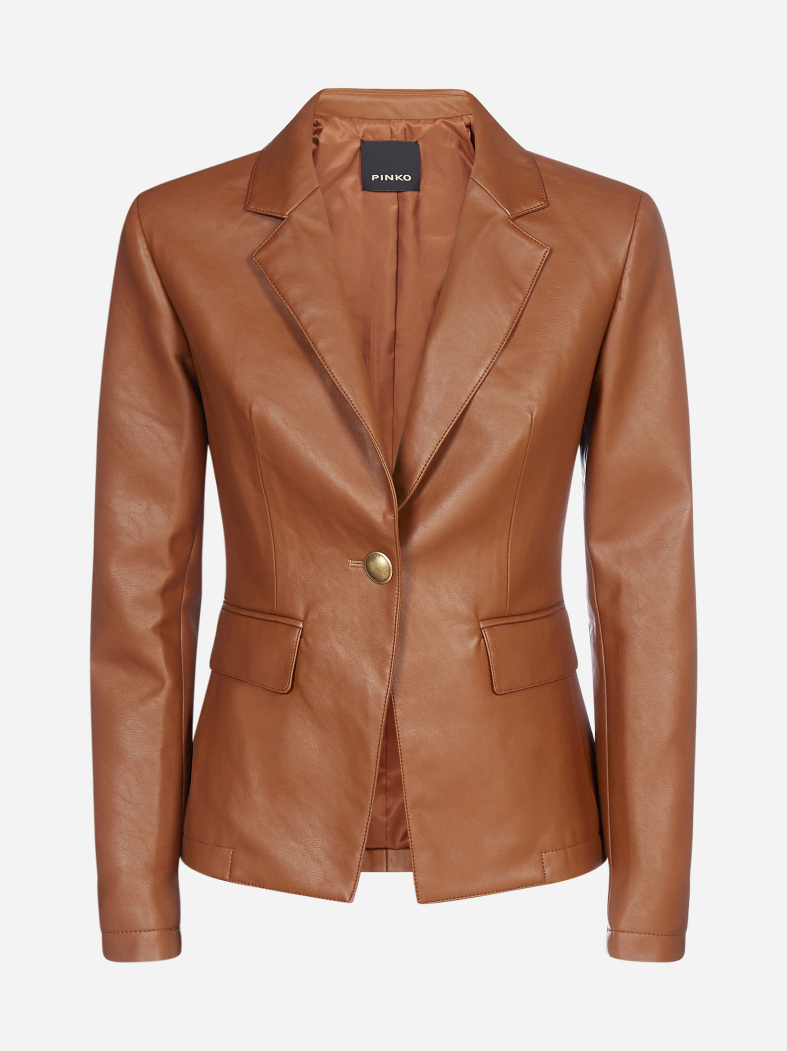 Pinko GIOBERTO FAUX LEATHER BLAZER