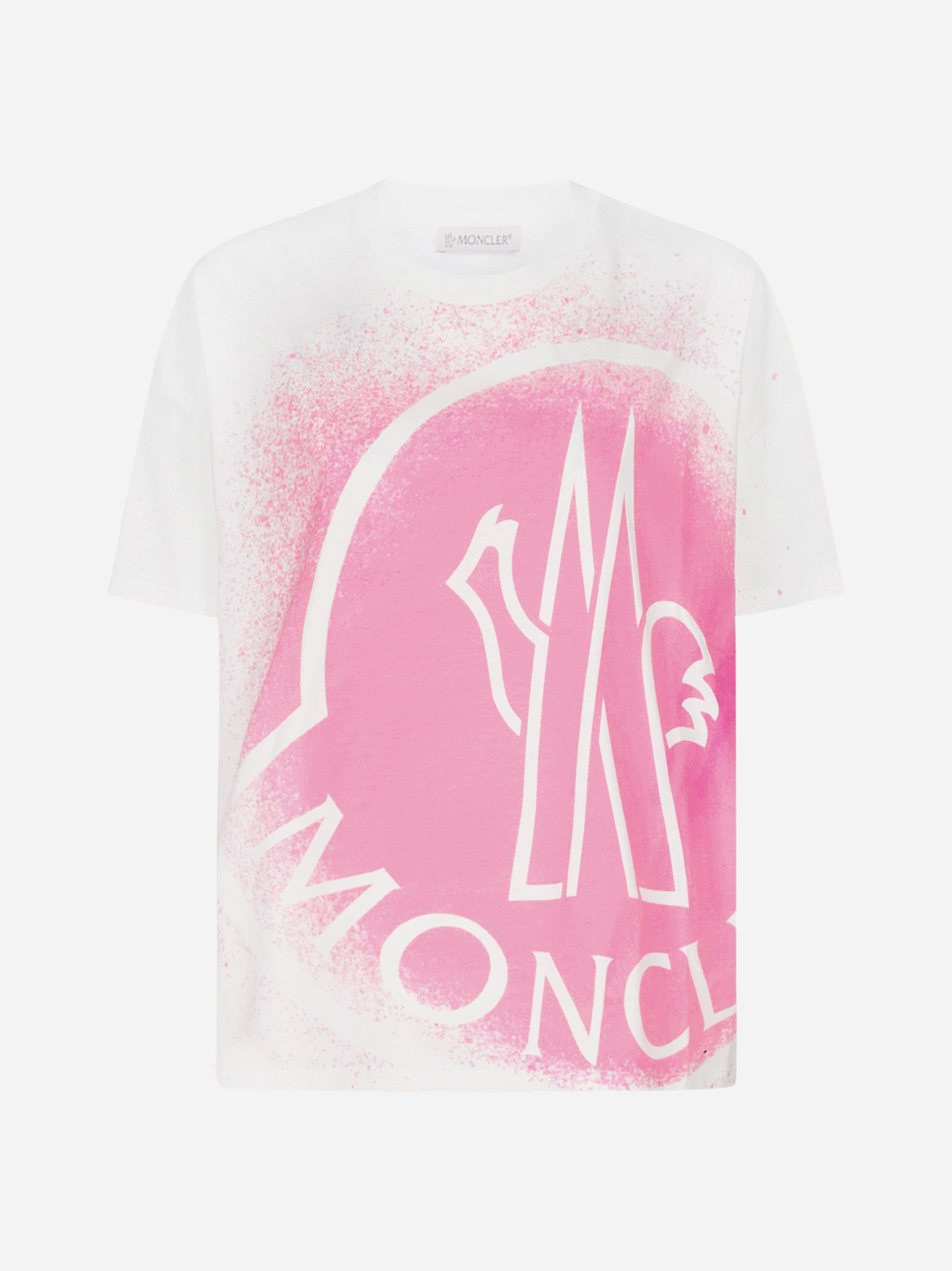 Moncler T-shirts SPRAY EFFECT LOGO PRINT COTTON T-SHIRT