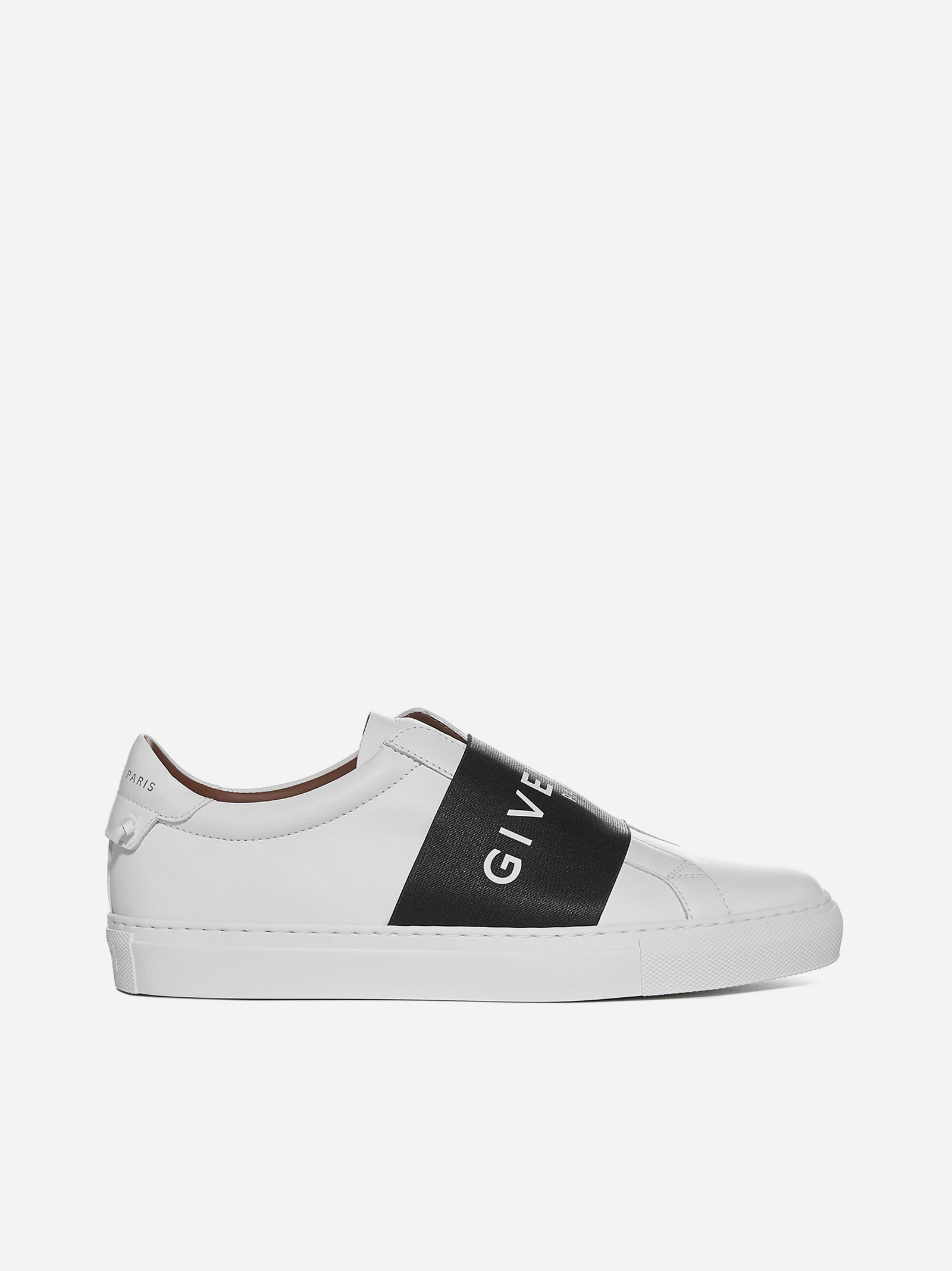 Givenchy URBAN STREET LOGO BAND LEATHER SNEAKERS