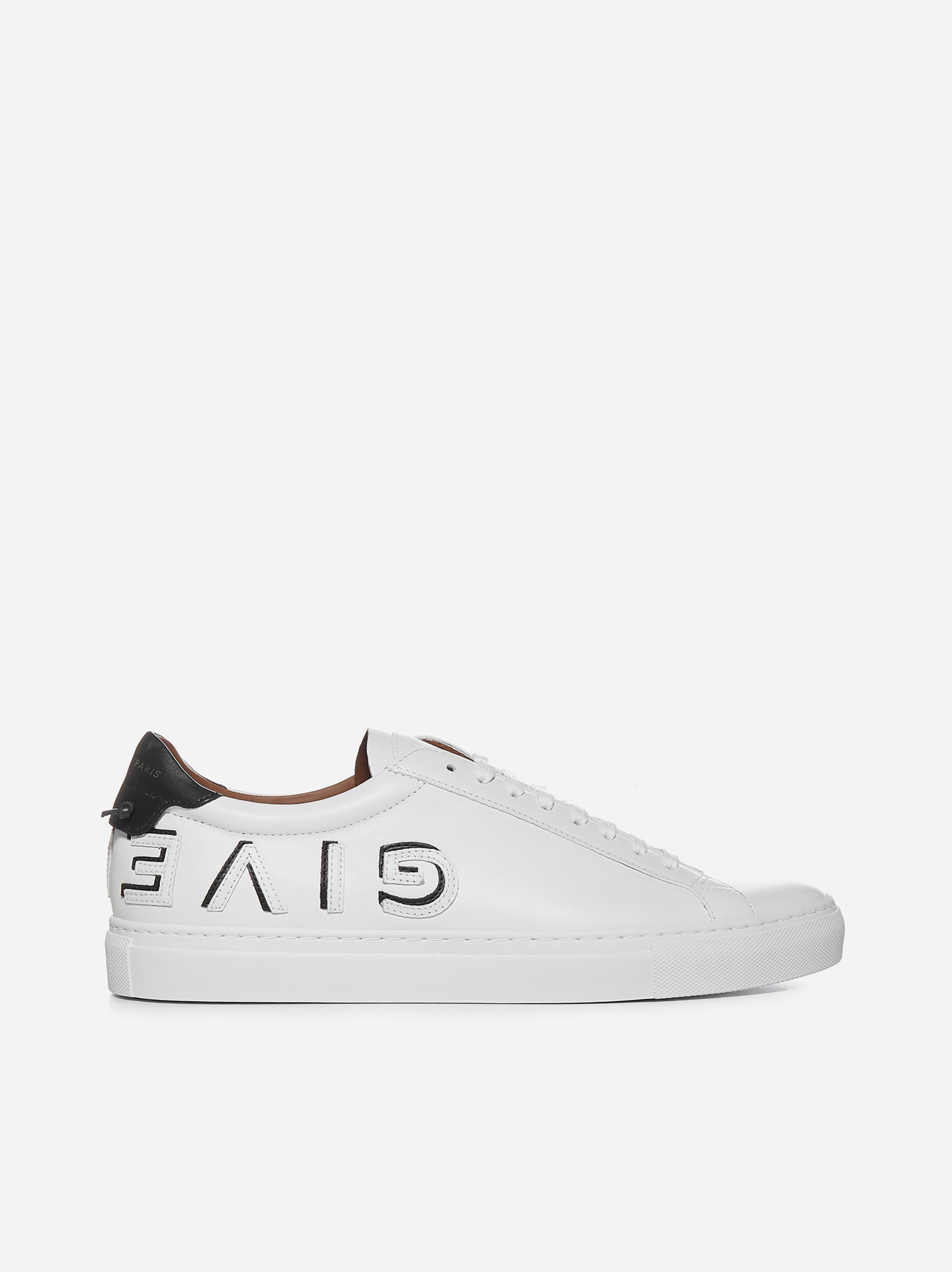 Givenchy URBAN-STREET LOGO CALFSKIN SNEAKERS