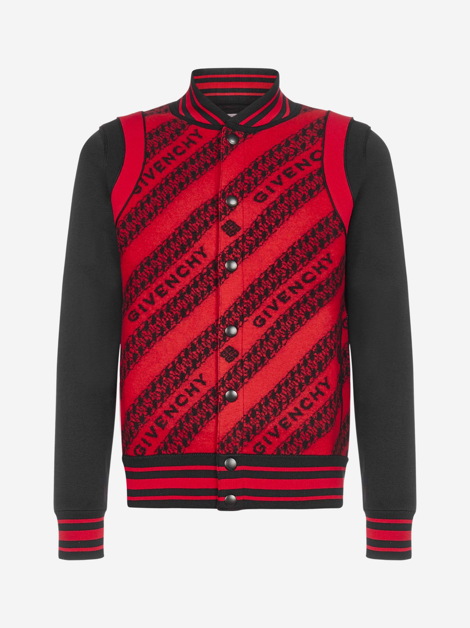 GIVENCHY ALL-OVER LOGO WOOL BOMBER JACKET
