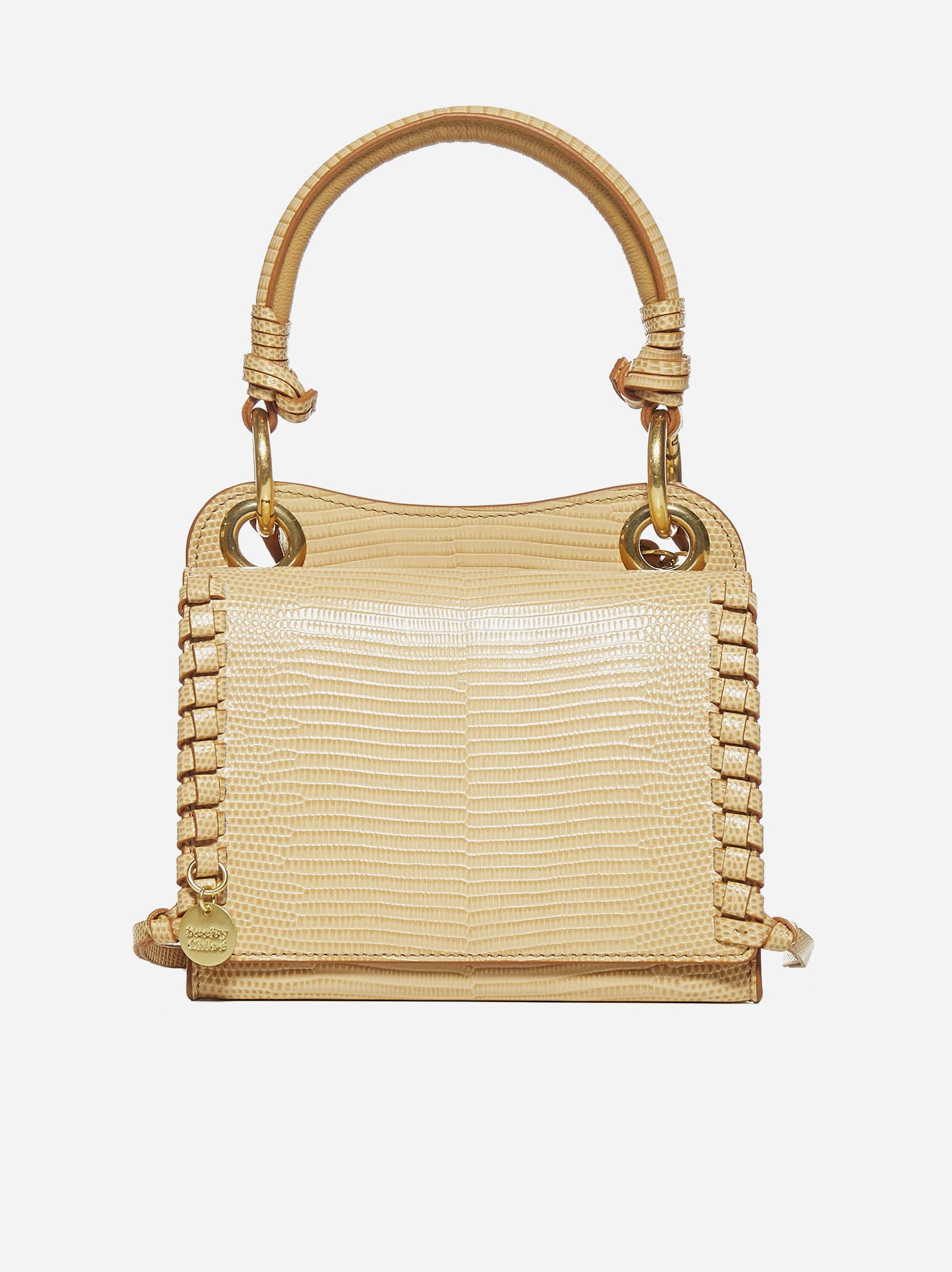 Tilda mini leather and suede bag