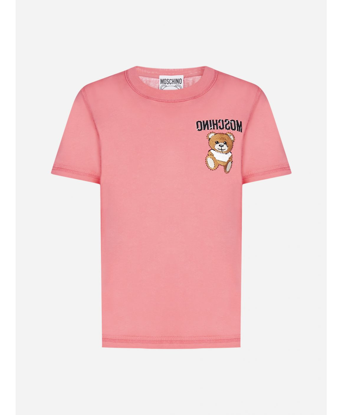 Teddy and logo embroidery cotton t-shirt