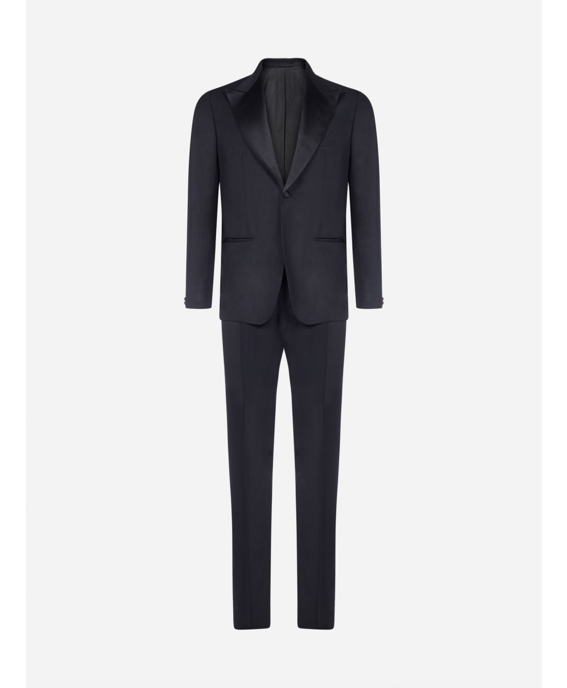 2-pieces tailored wool tuxedo suit
