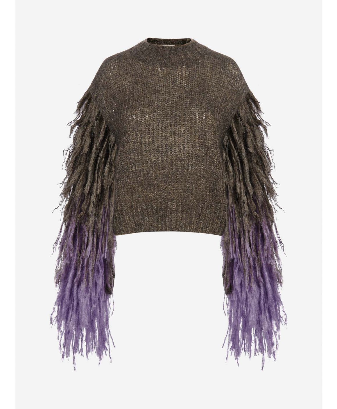 Mironne fringed mohair and merino sweater