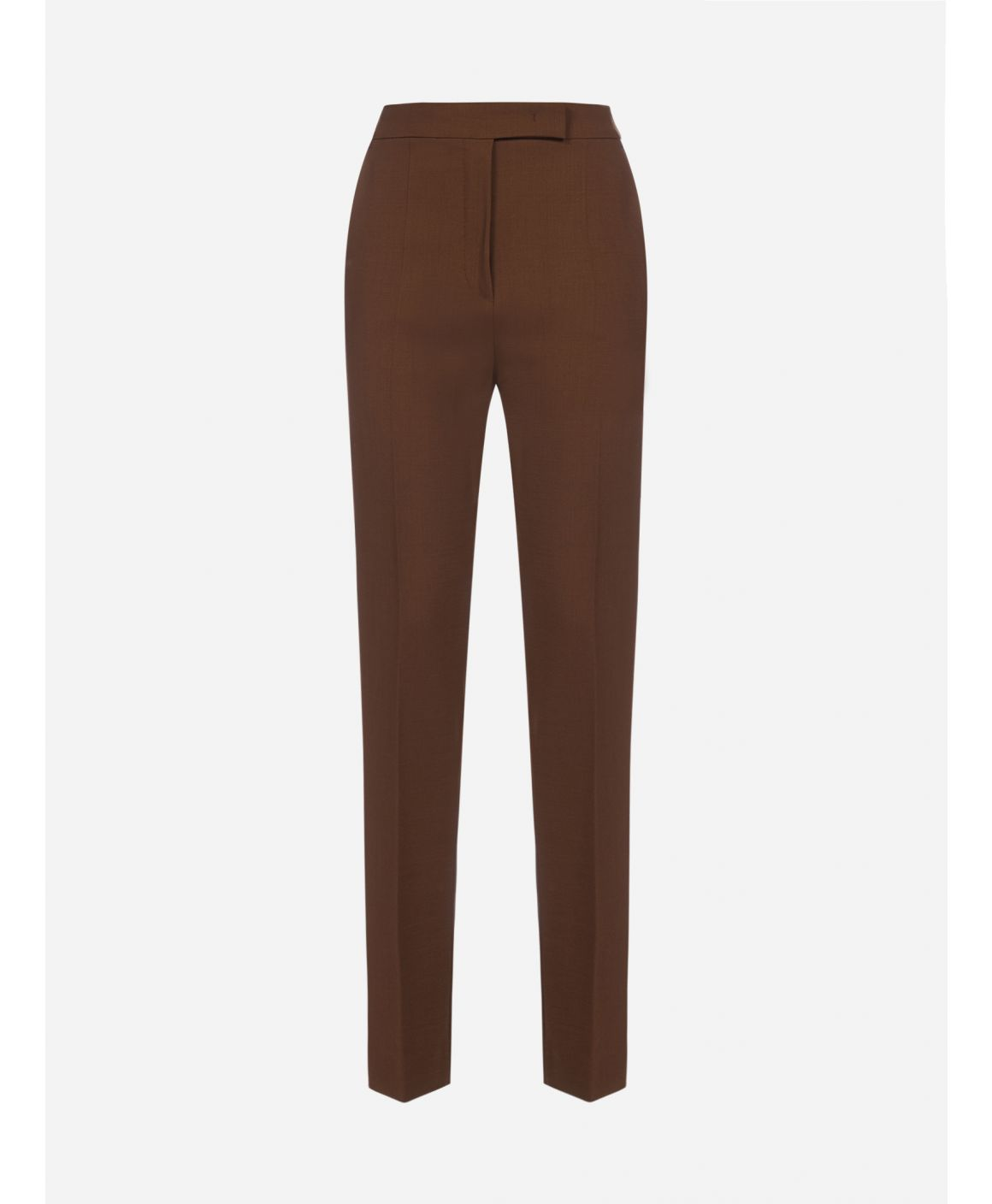 Villar stretch wool crepe trousers