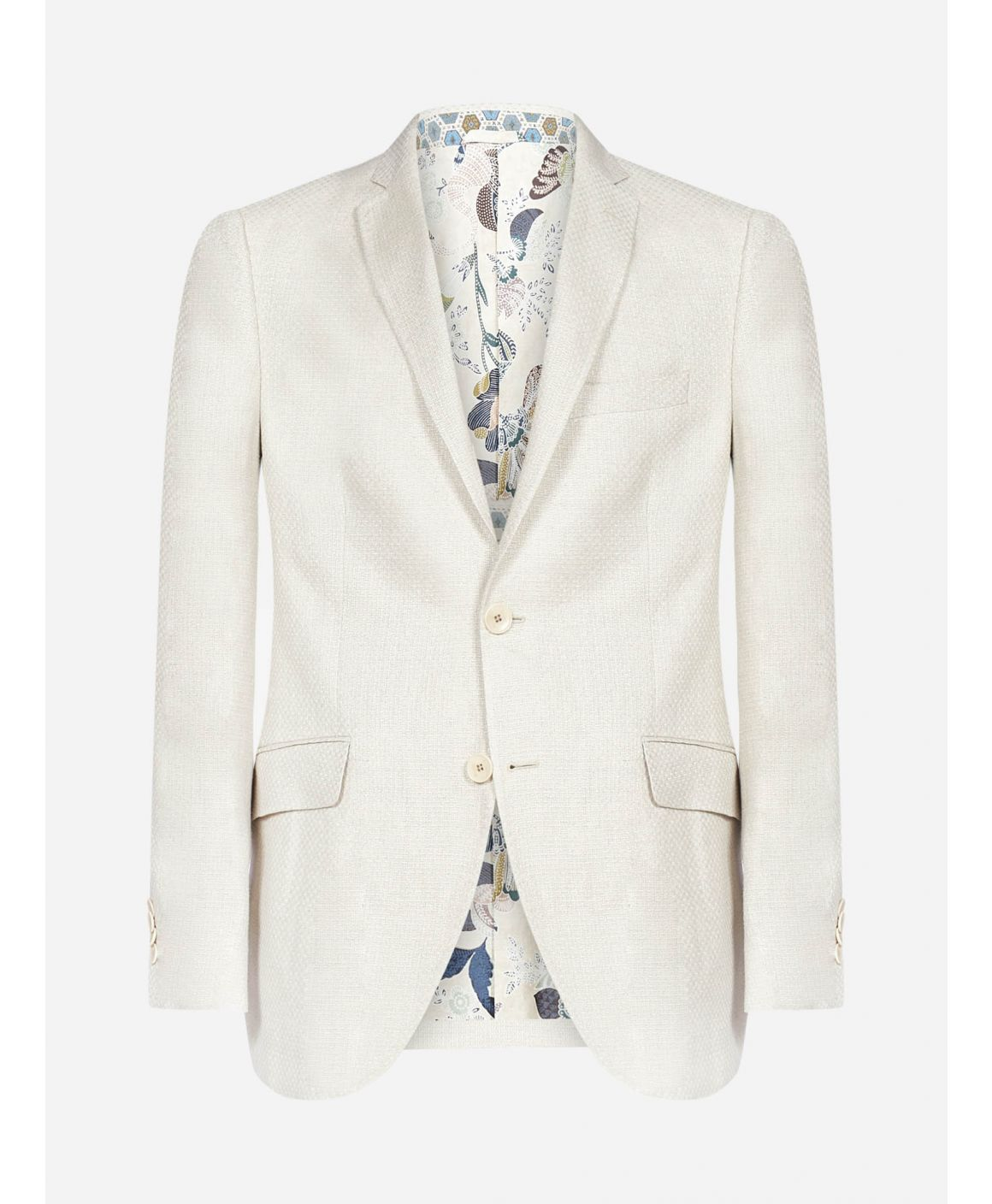 Linen and hemp textured blazer