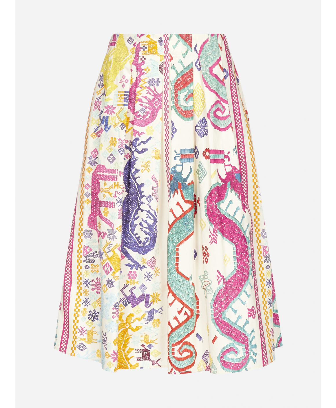 Lampedusa ethnic print cotton skirt