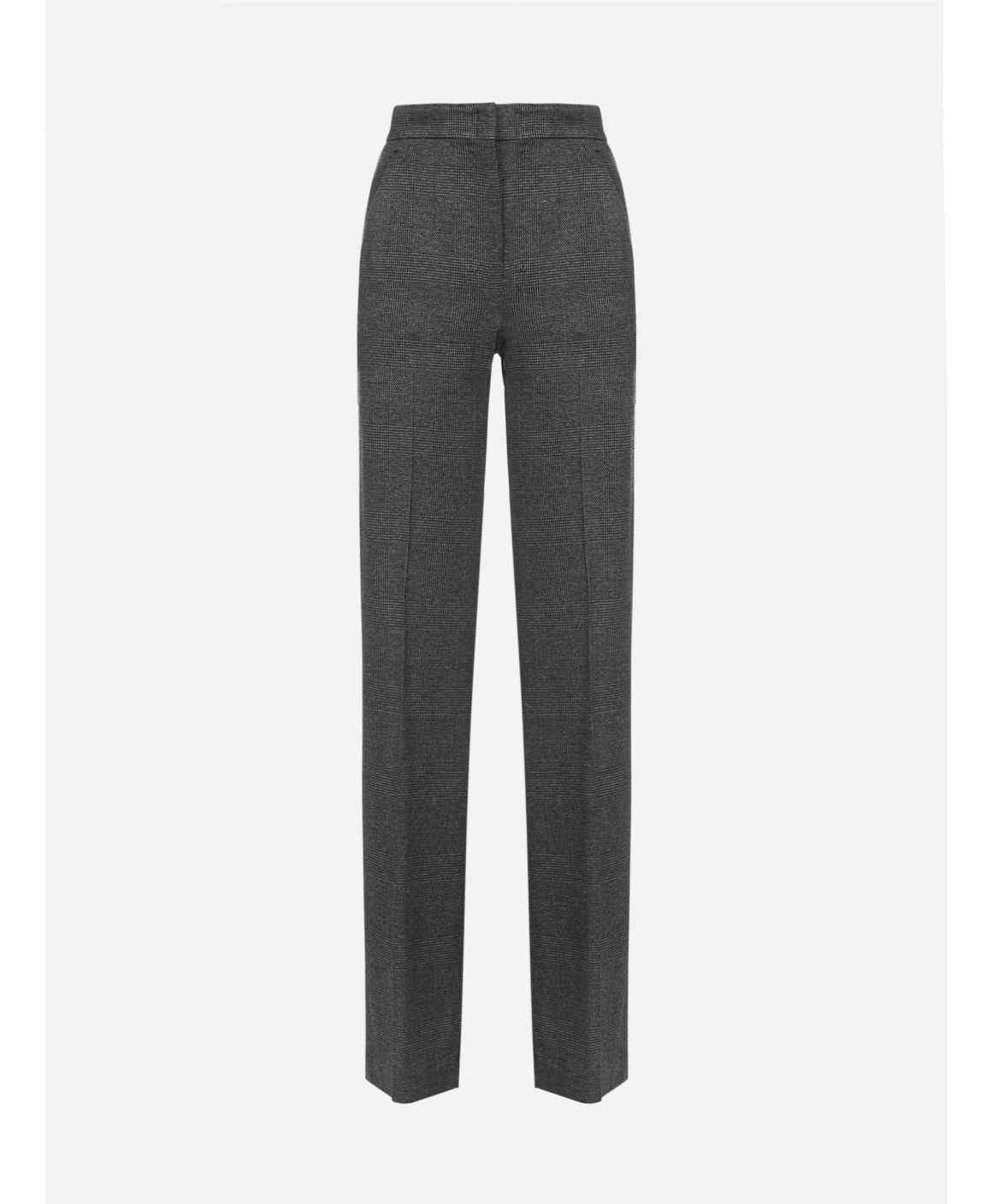 Nolana Prince-of-Wales wool and viscose trousers