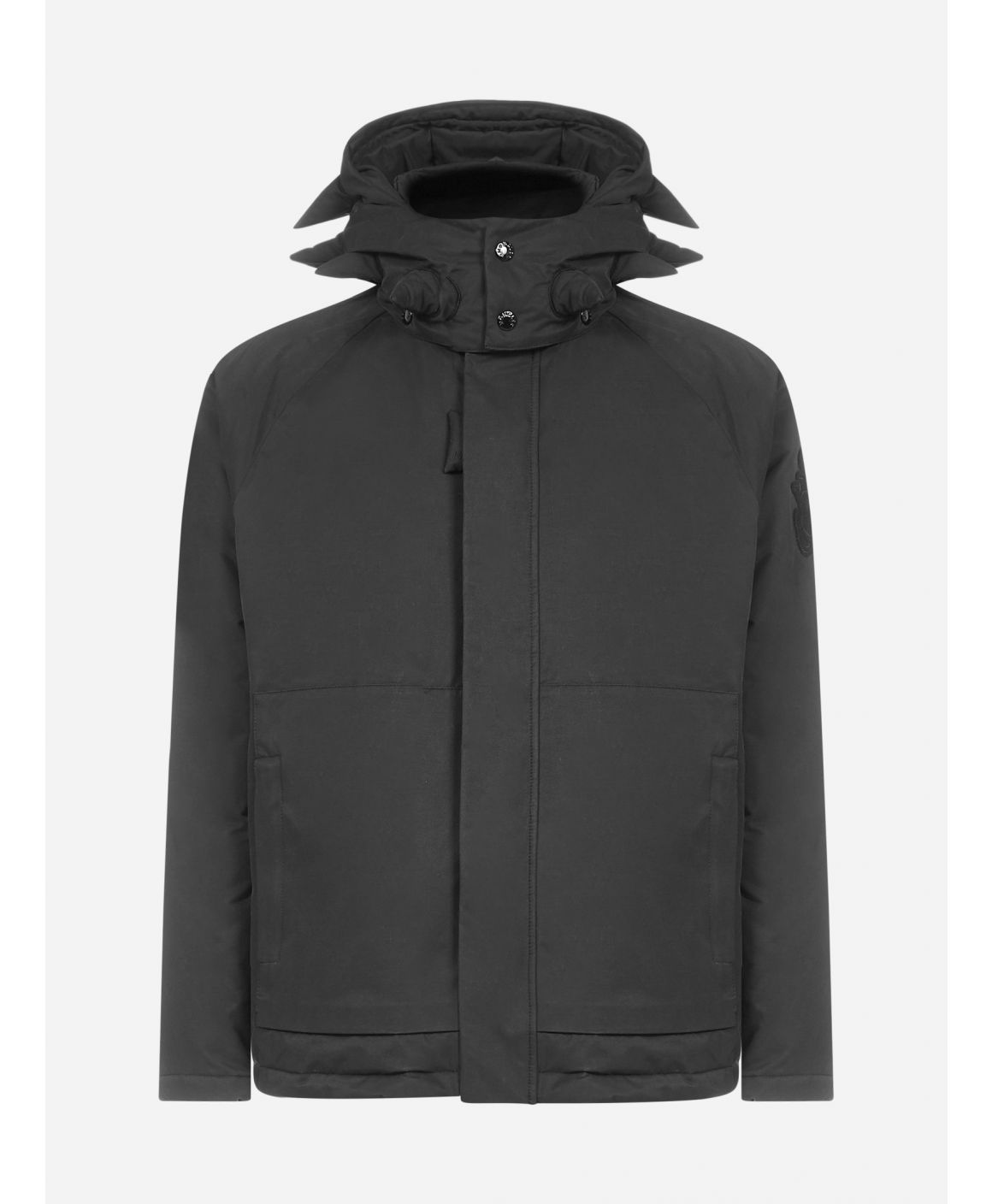 Highclere 3D-spikes hooded cotton down jacket