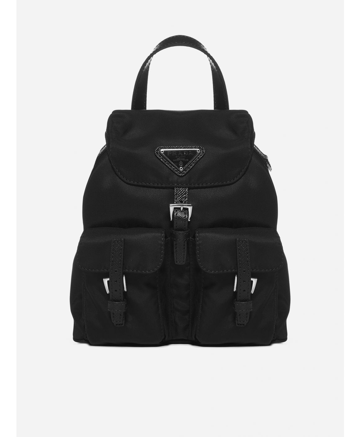 Logo-plaque nylon mini backpack