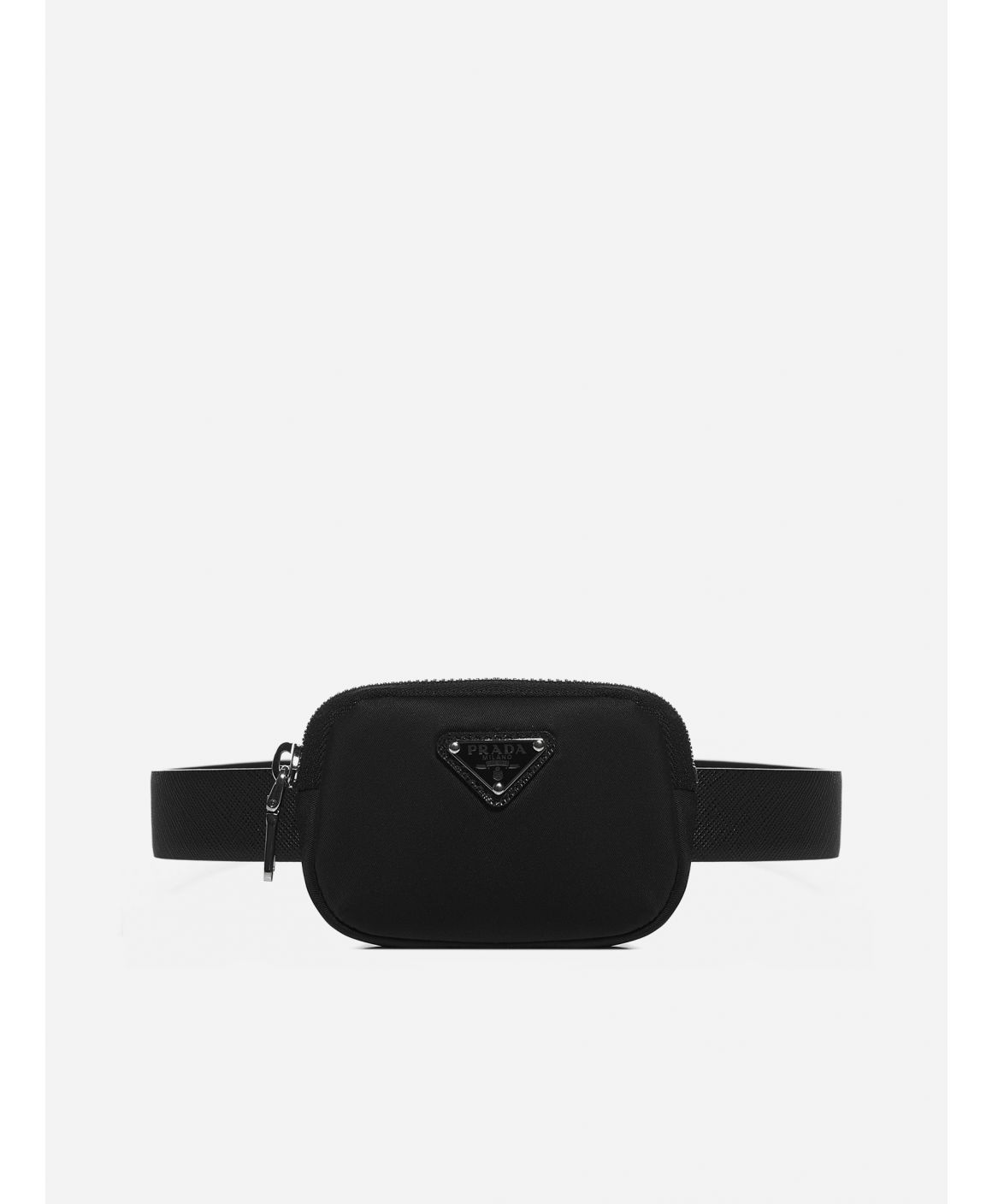 Mini pouch-detail Saffiano leather belt