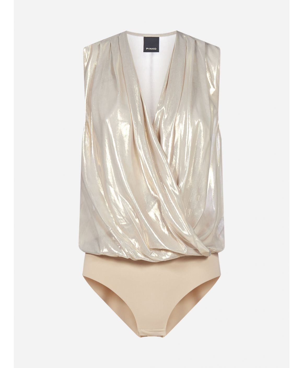 Ines metallized satin bodysuit