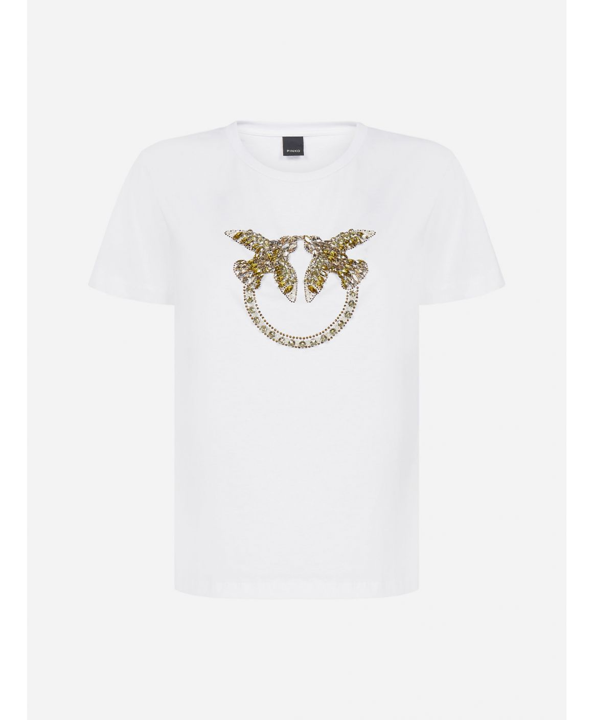 Quentin 1 crystals-logo cotton t-shirt