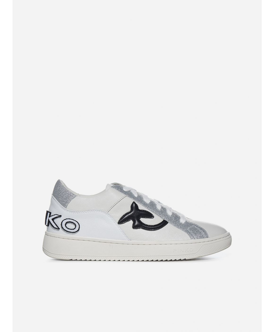 Liquirizia logo leather low-top sneakers