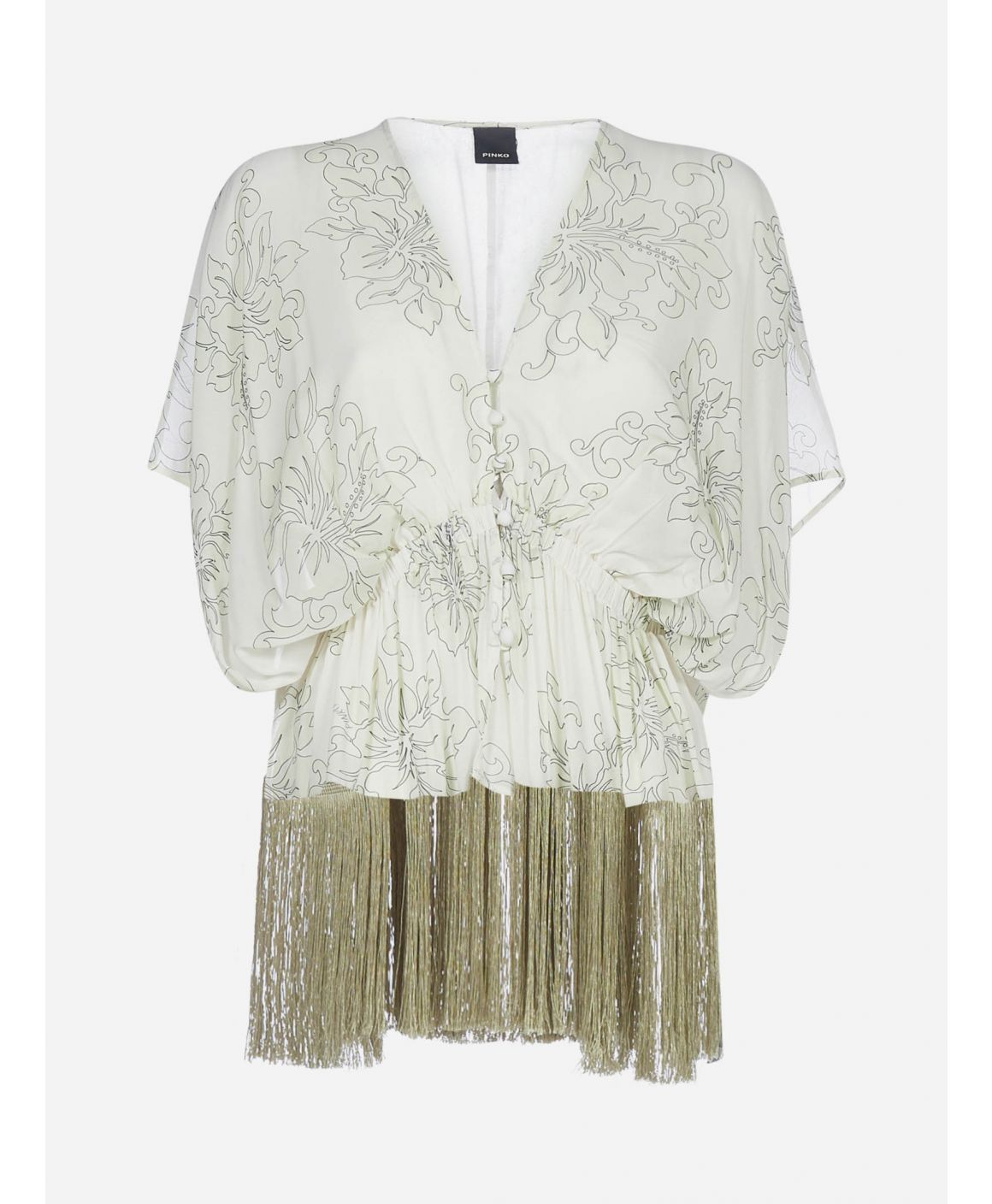 Martelli fringed and print viscose blouse