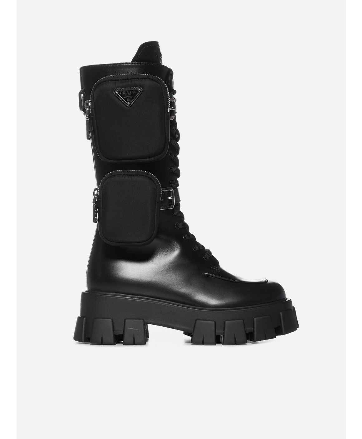 Monolith leather combat boots