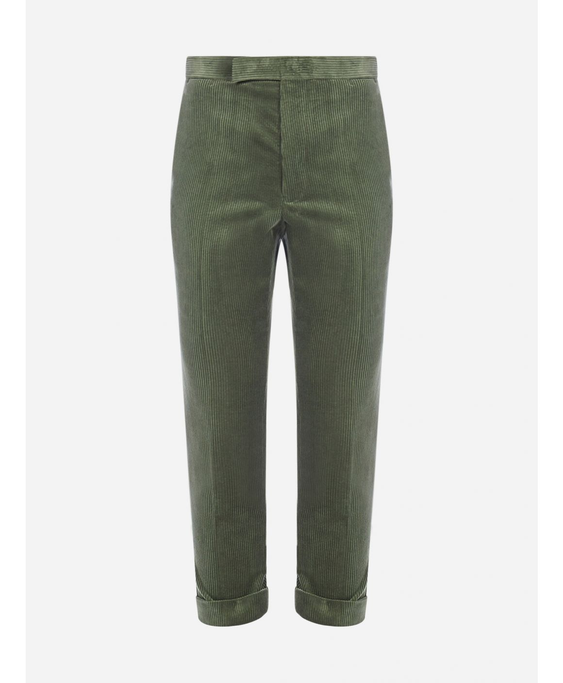 Corduroy skinny cropped trousers