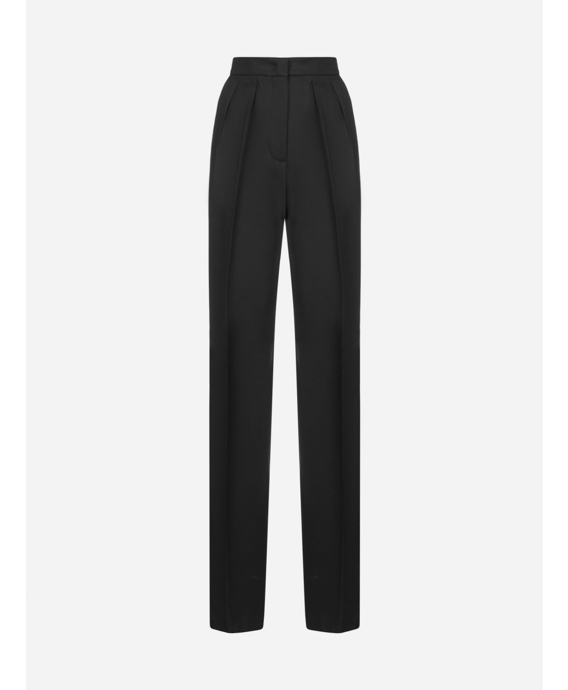 Ovale cotton and viscose trousers