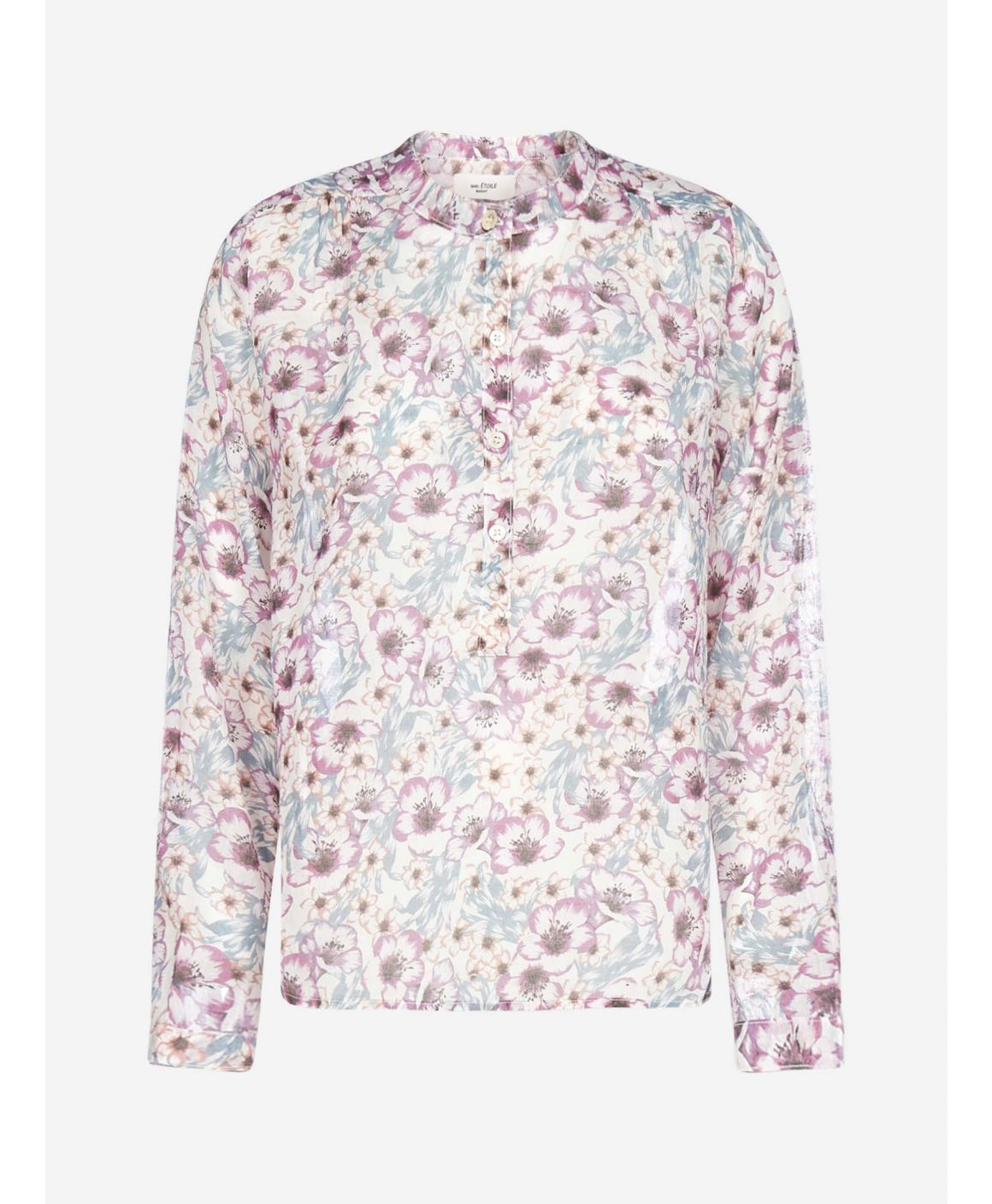 Maria floral print cotton shirt