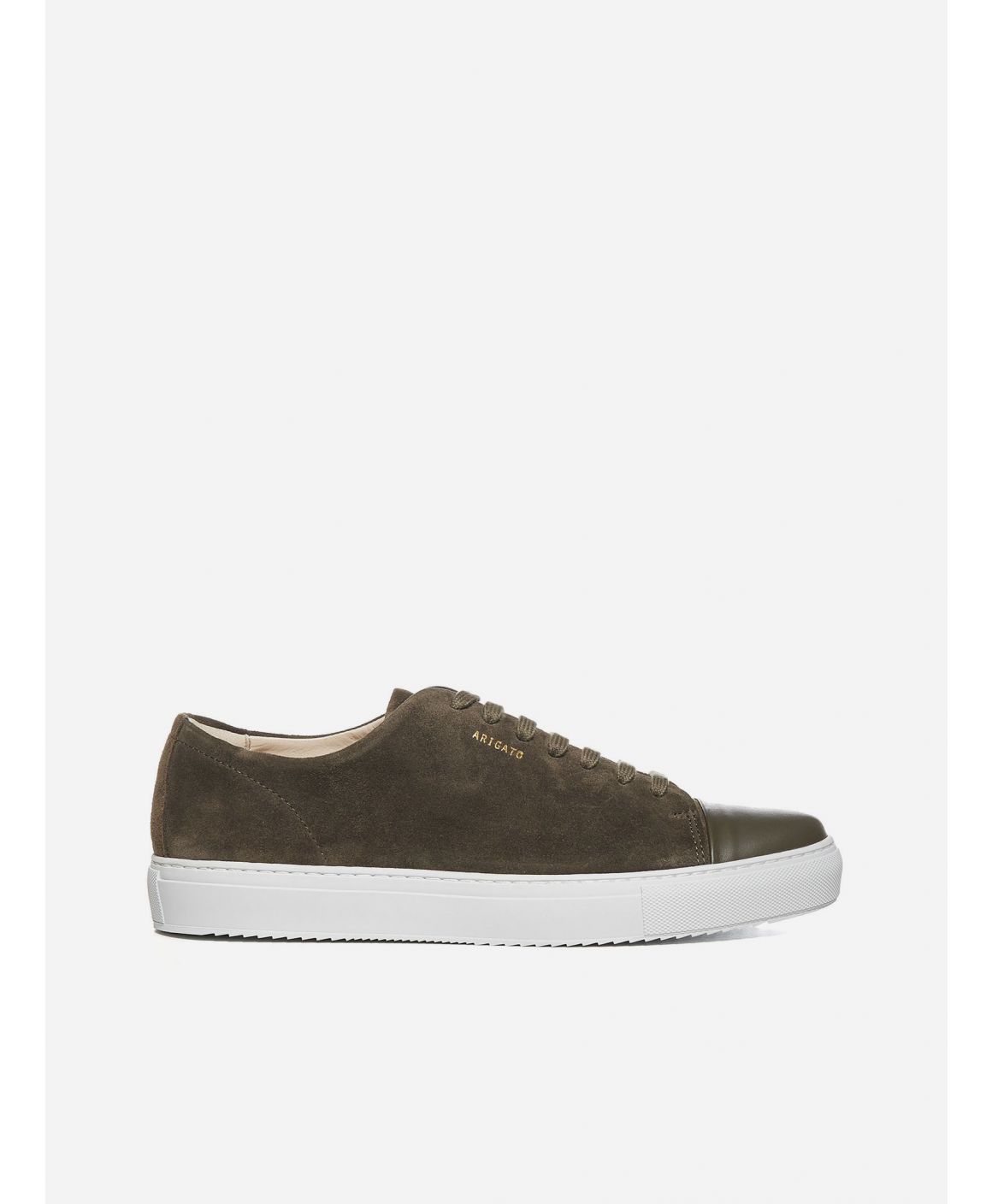 Cap toe suede leather sneakers