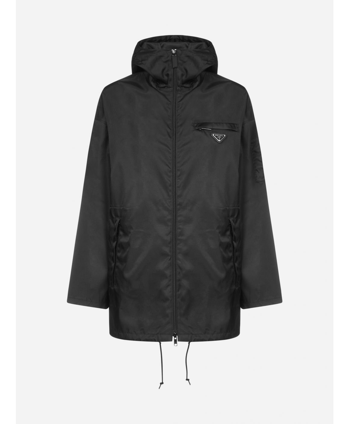 Re-Nylon hooded jacket
