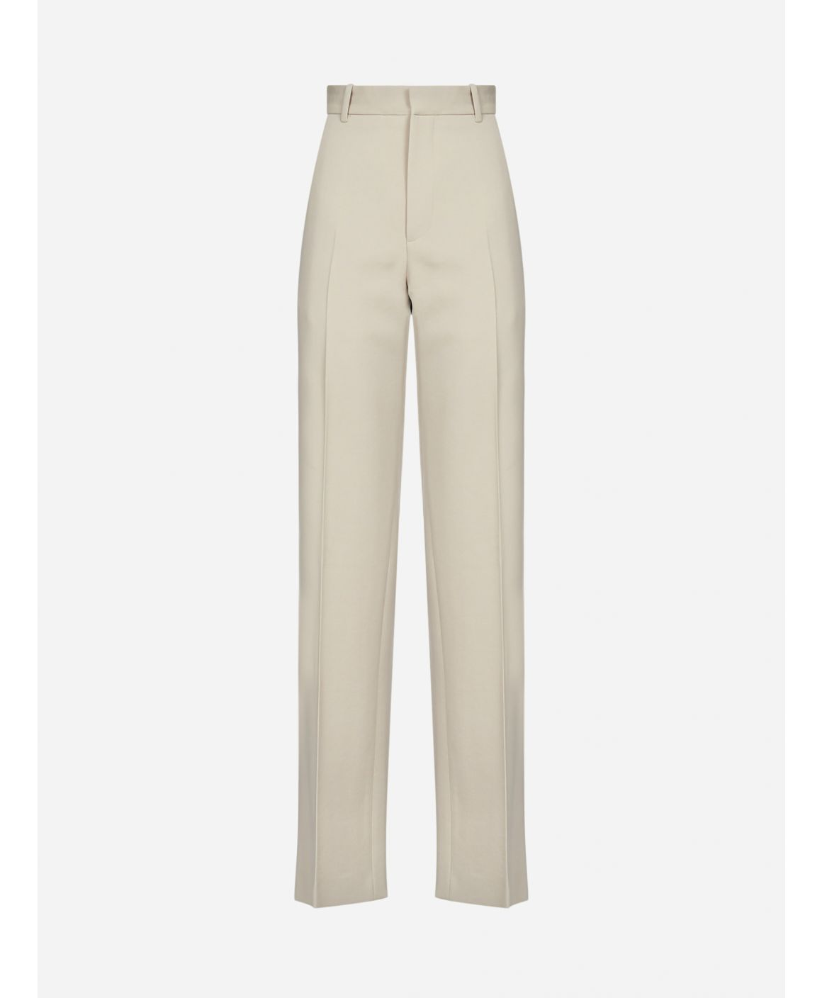 Logo wool tailored trousers