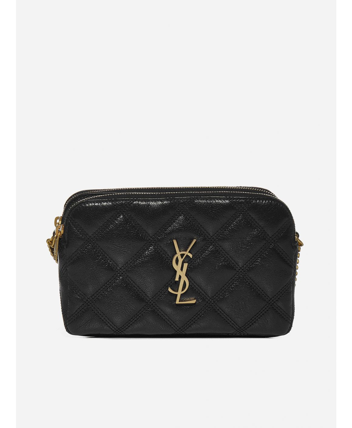 Becky YSL-logo quilted leather mini bag