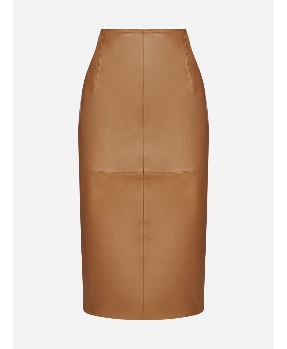 Torquay leather skirt