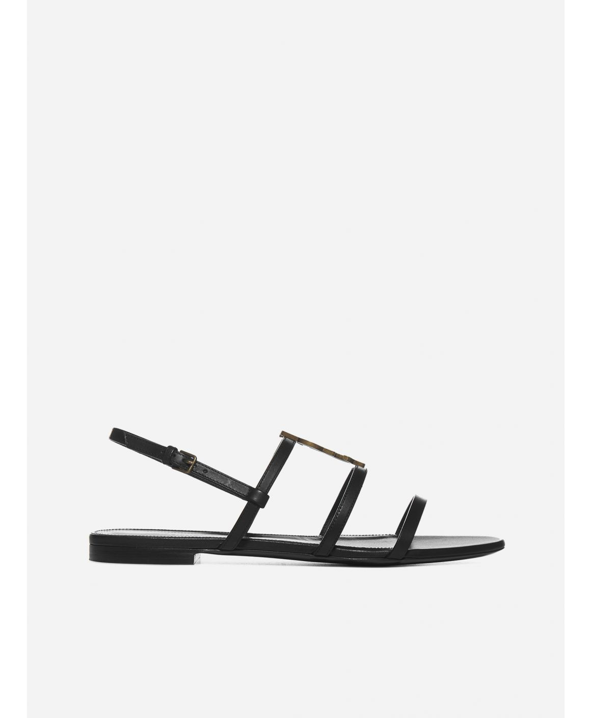Cassandra YSL leather flat sandals
