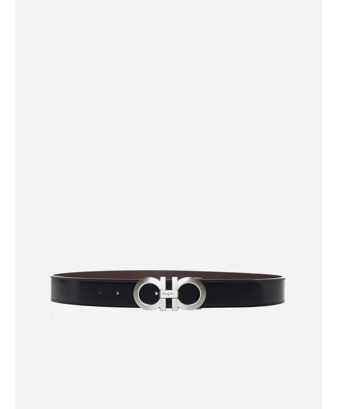 Gancini reversible leather belt