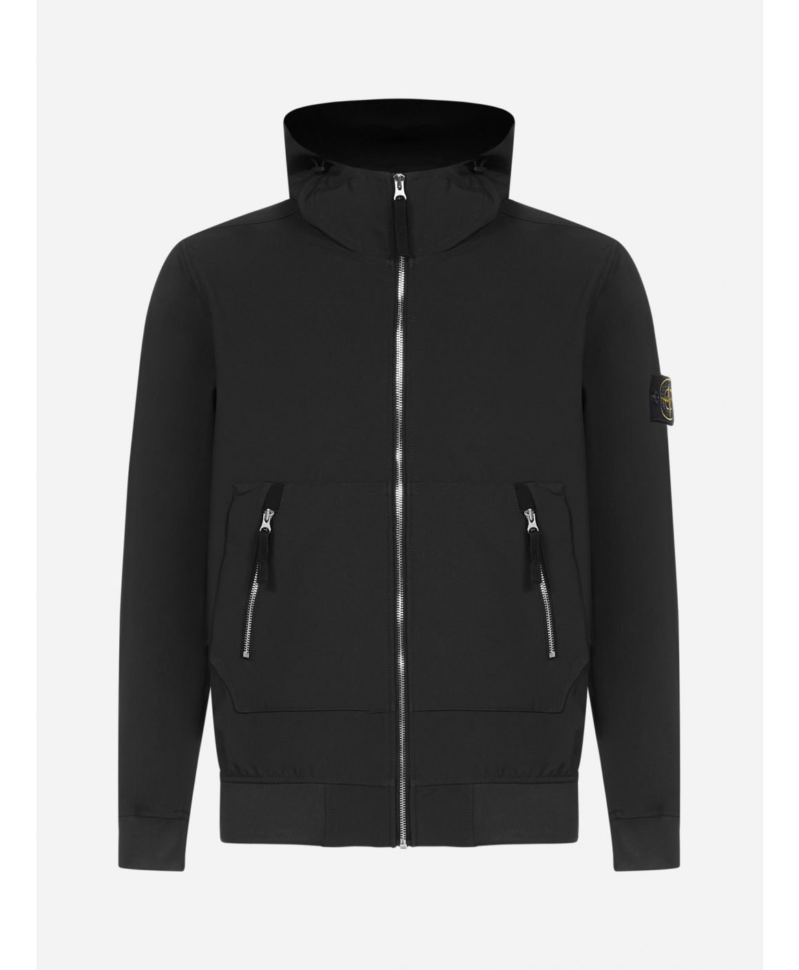 Technical fabric hooded jacket