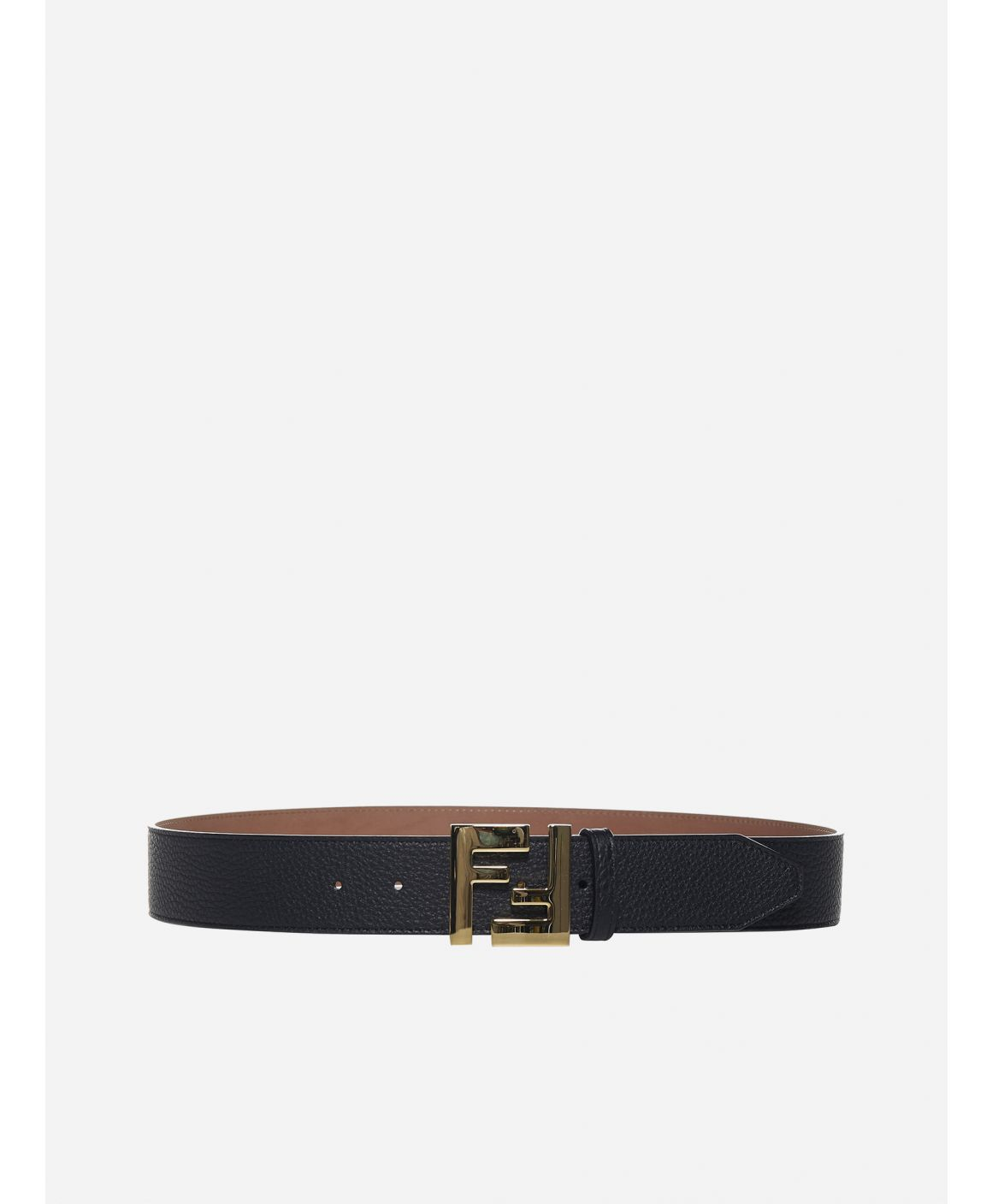 FF logo leather belt