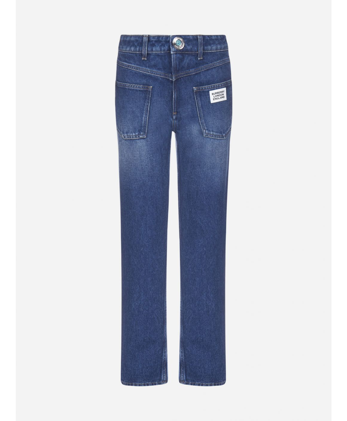 Deconstructed denim jeans