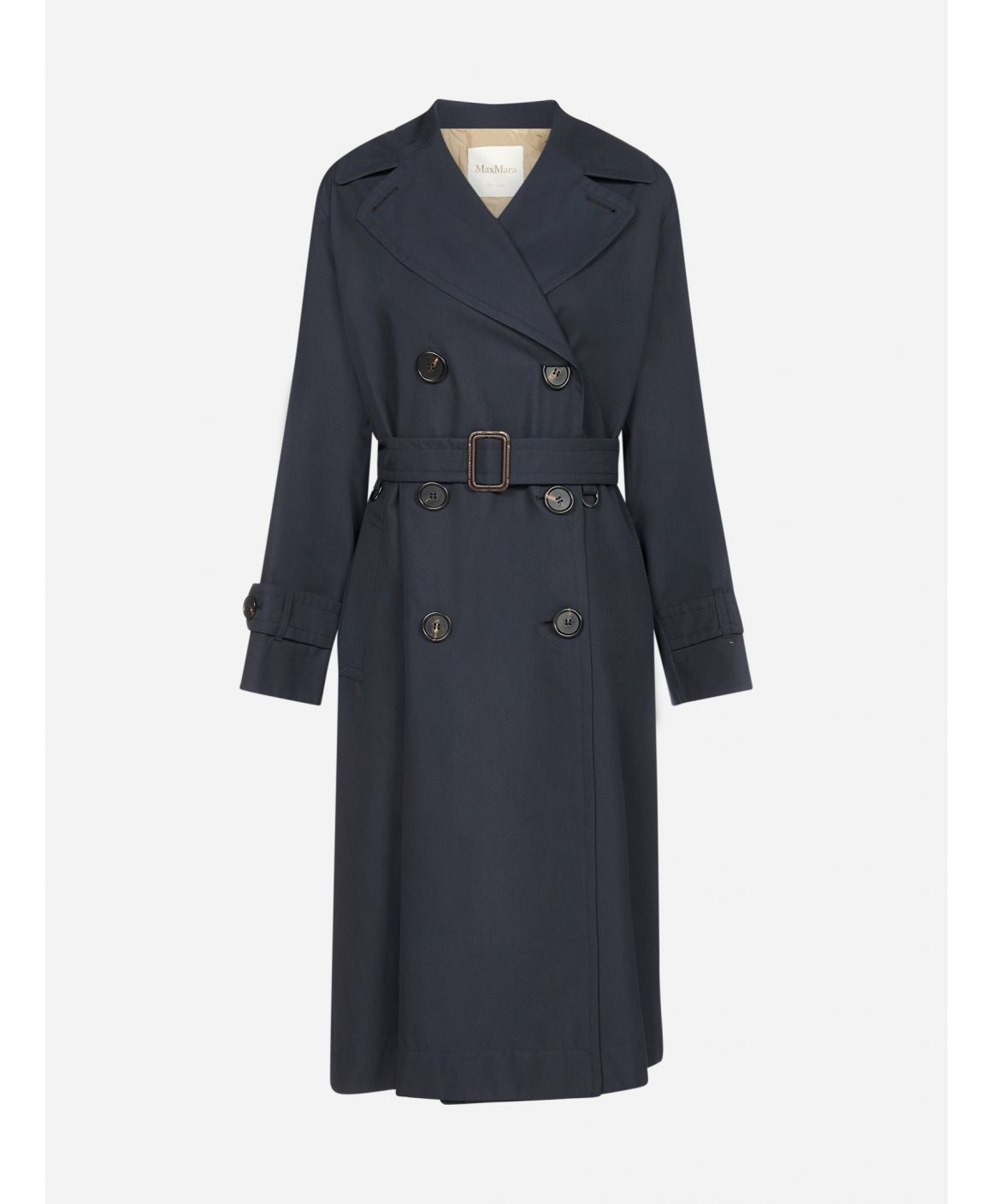 Dimper double-breasted cotton trench coat