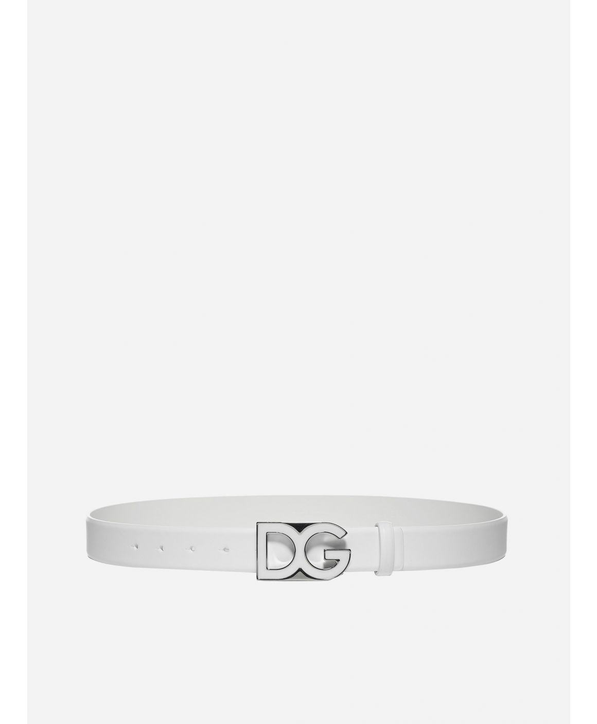 DG logo leather belt