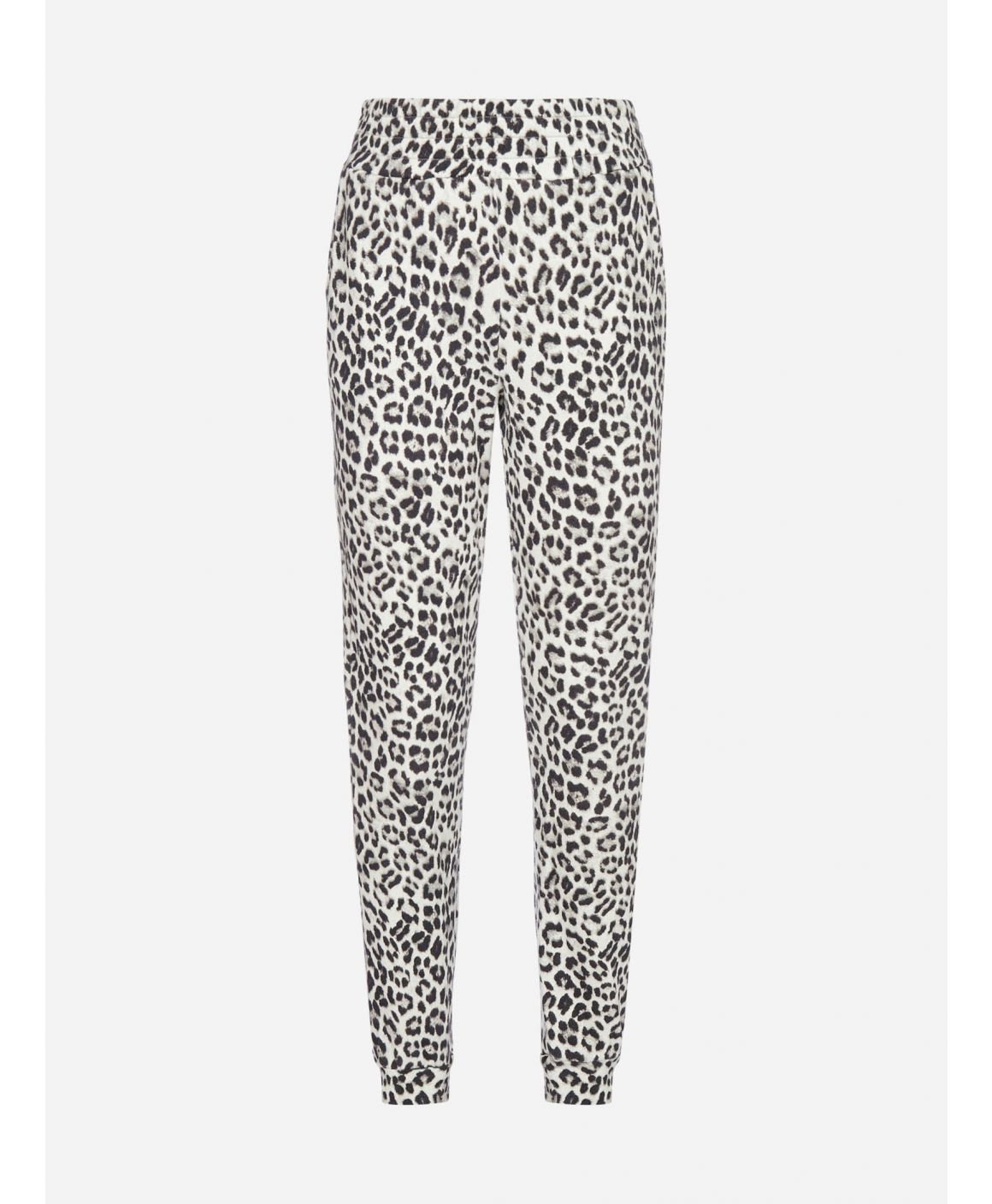 Shavon leopard print cotton trousers