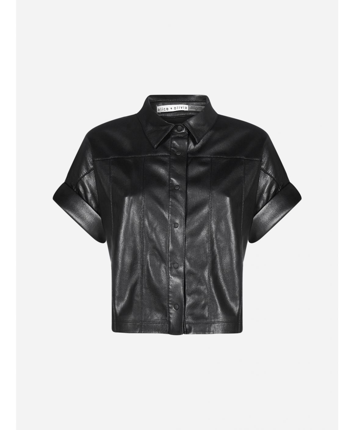 Edith faux leather shirt