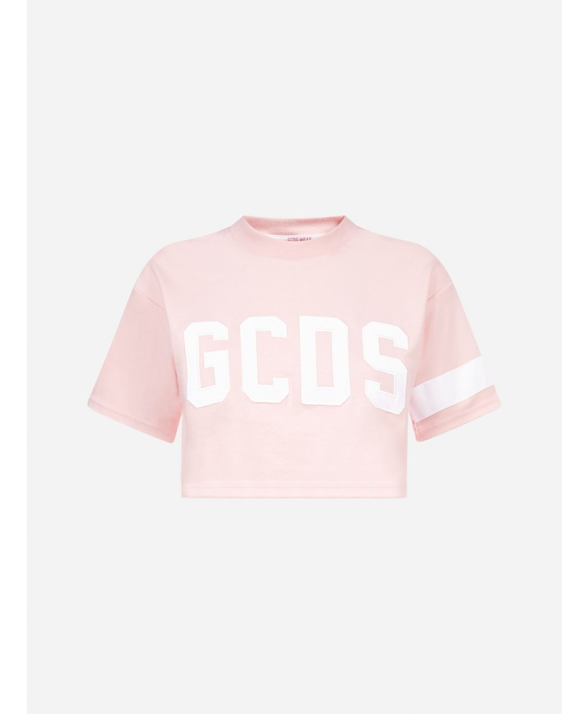 Logo cotton crop t-shirt