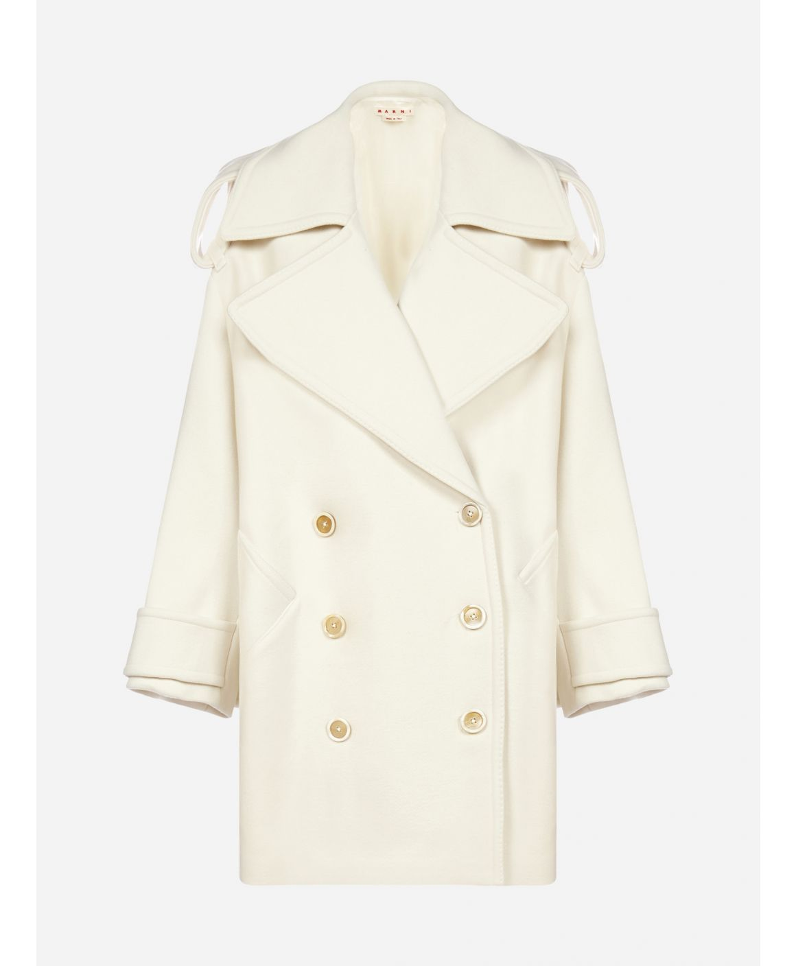 Oversized wool double-breasted coat