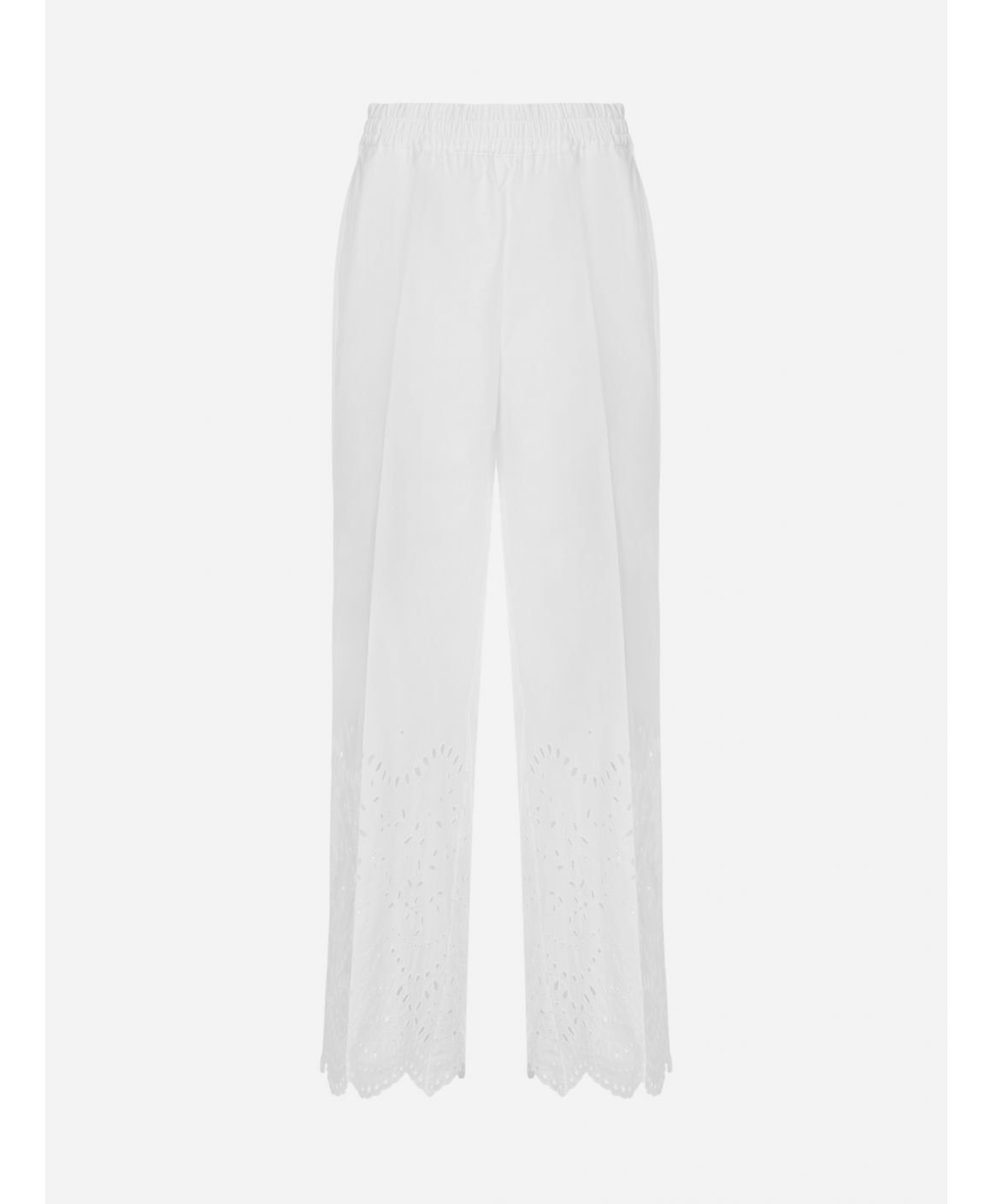 Cosan broderie anglaise cotton trousers