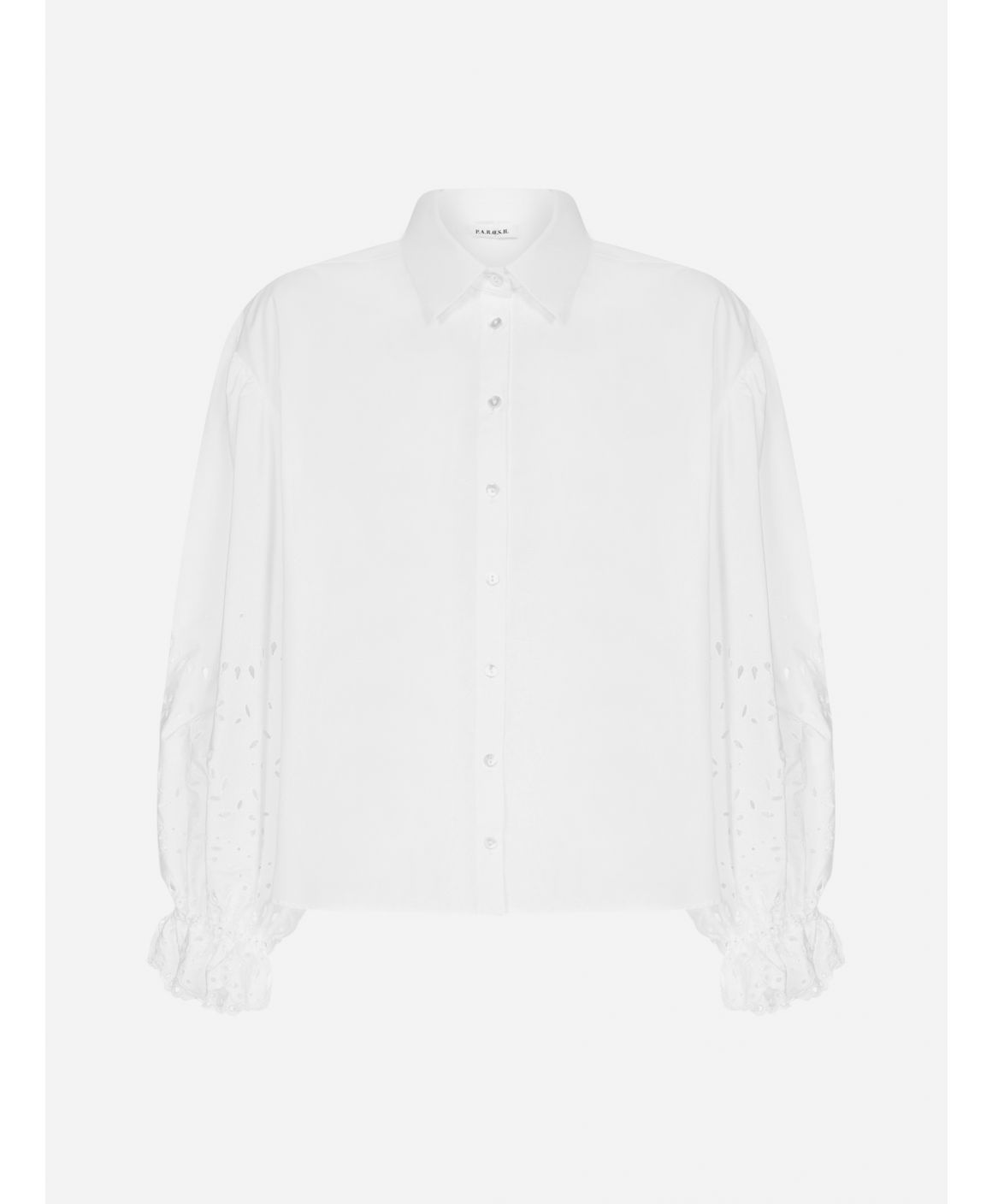 Cosan broderie anglaise cotton shirt