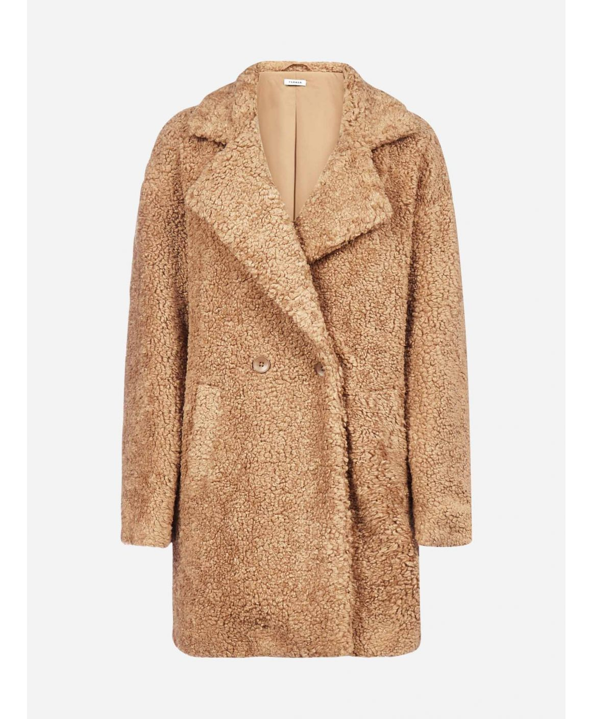 Postit faux-shearling coat