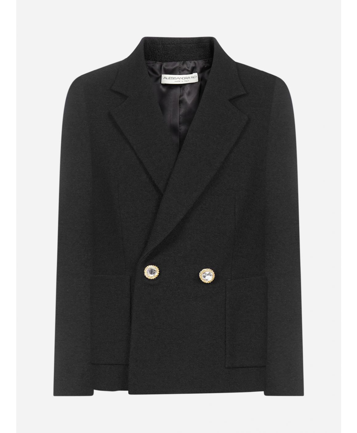 Virgin wool double-breasted blazer