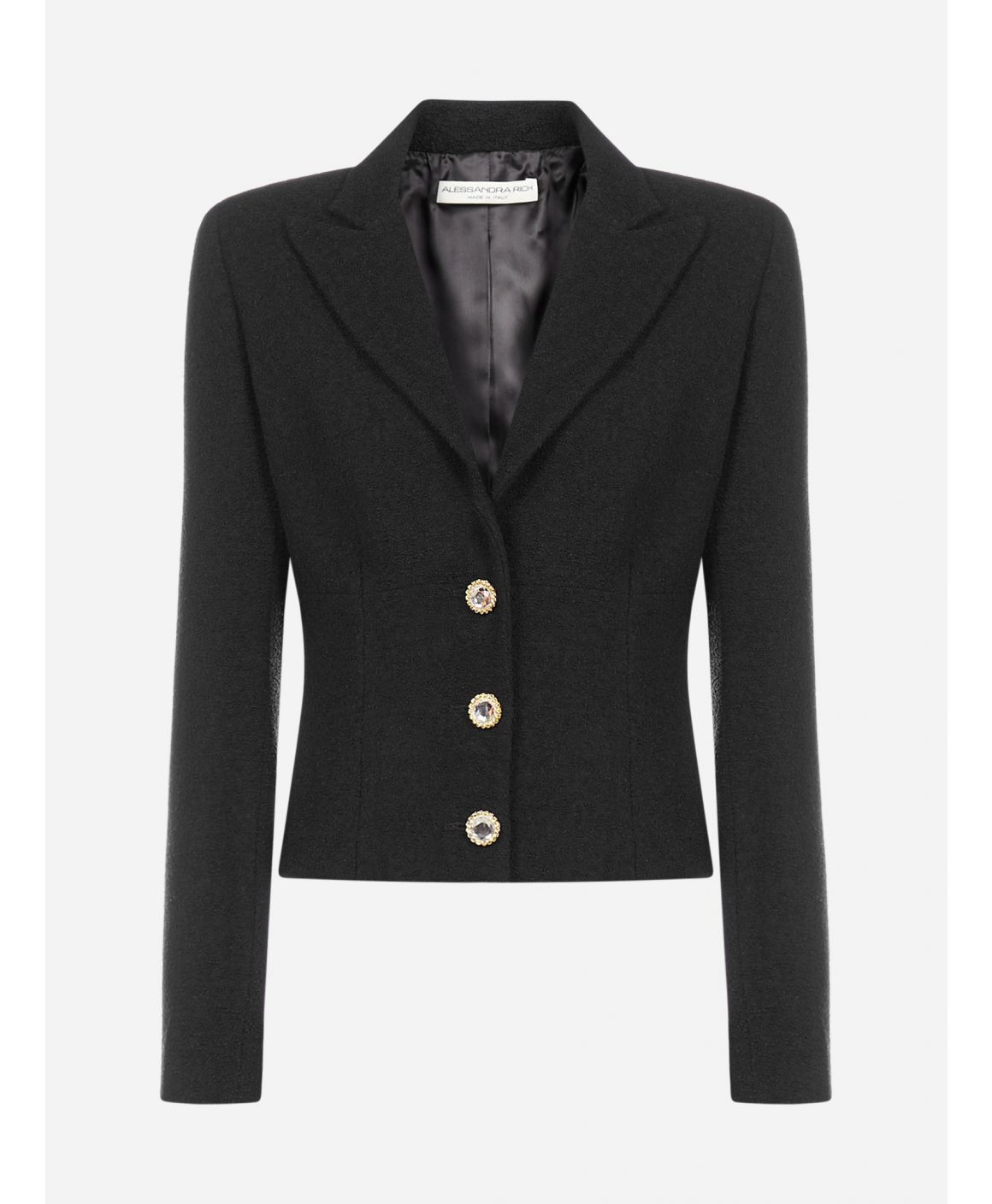 Virgin wool single-breasted blazer
