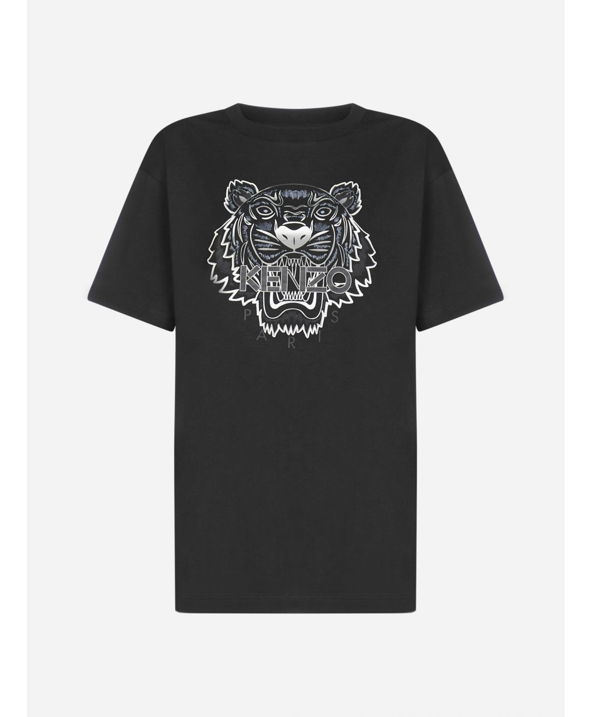 Logo-tiger cotton oversized t-shirt
