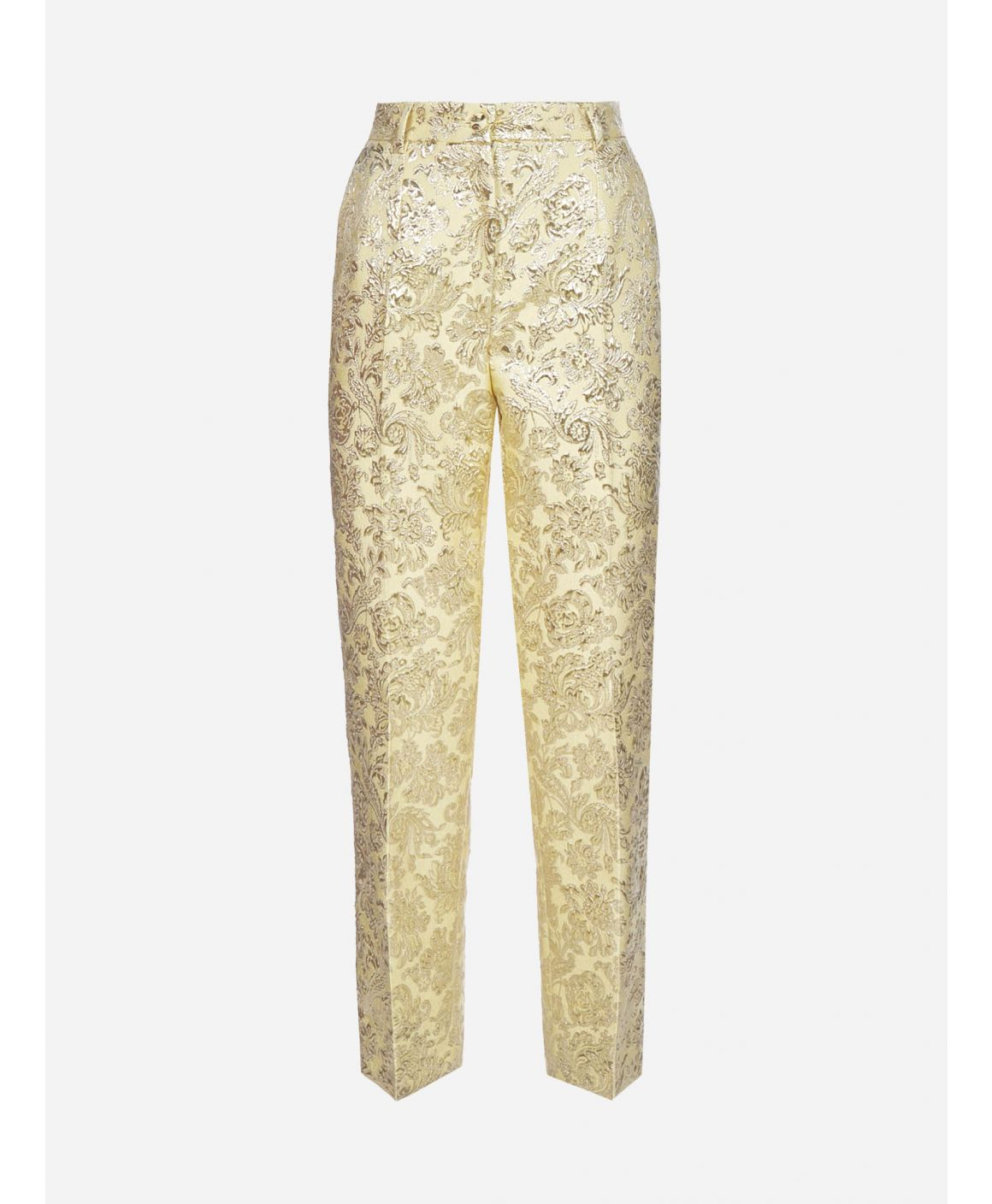 Lame' jacquard trousers
