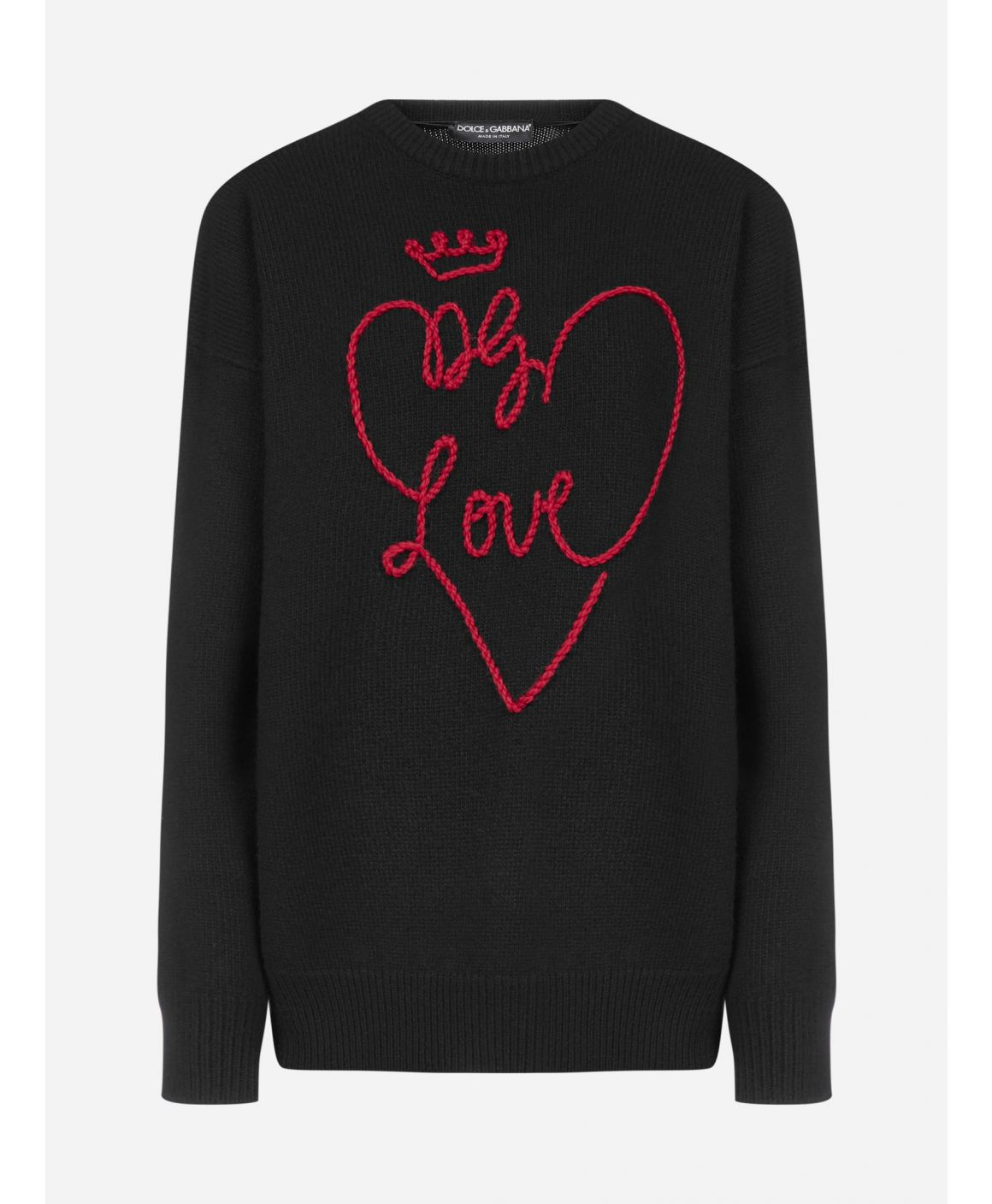DG Love embroidery wool sweater